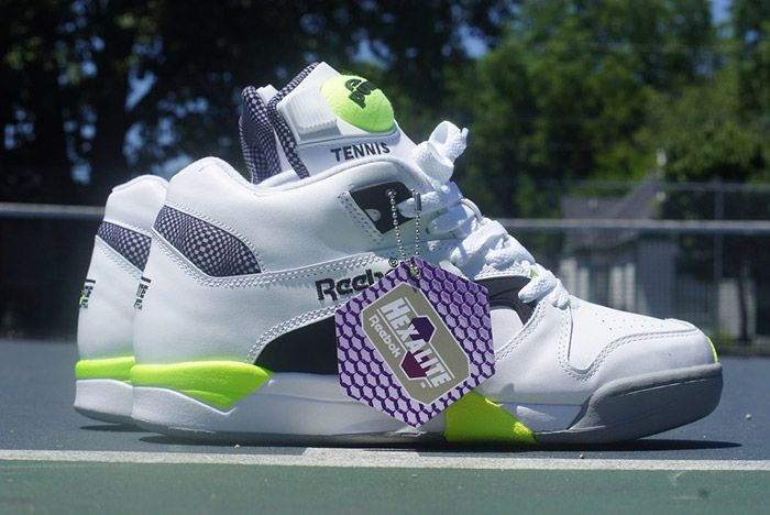 Reebok Court Victory Pump White Black Solar Yellow 2