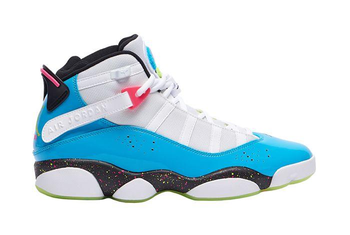 Jordan 6 Rings Light Blue Fury Right