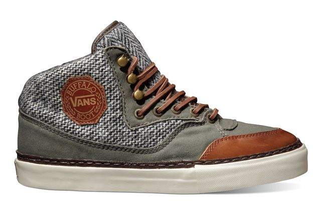 Vault By Vans X Harris Tweed Fall Holiday 2012 Buffalo Boot Ht Lx Bronze Khaki 1