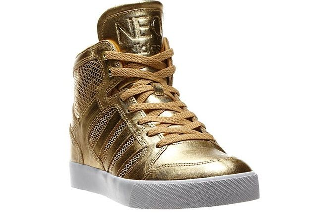 Addias Neo Gold Shoes Side Front 1