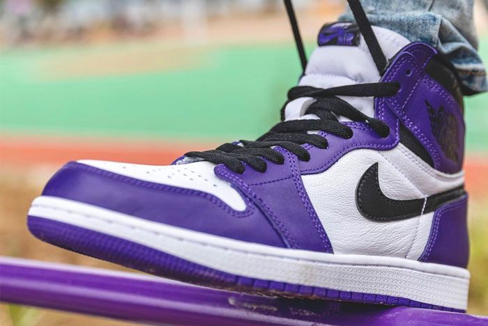 Air Jordan 1 High Og Court Purple Left
