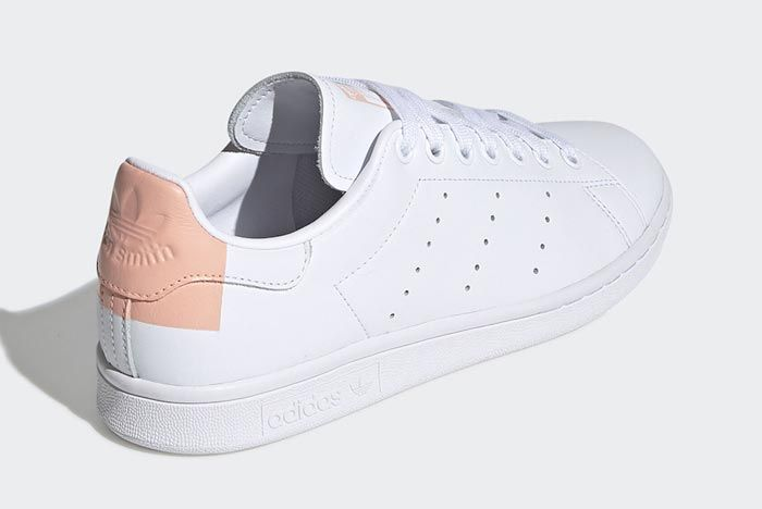 Adidas Stan Smith White Glow Pink Heelside