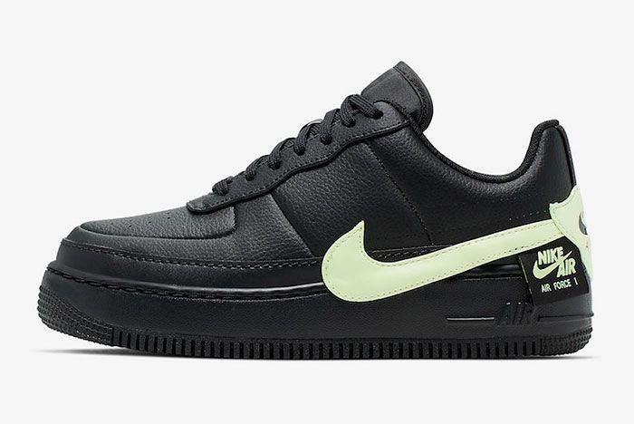 Nike Air Force 1 Jester Xx Black Barely Volt Cn0139 001 Lateral