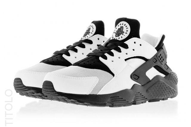 Nike Huarache Run Blackwhite 2