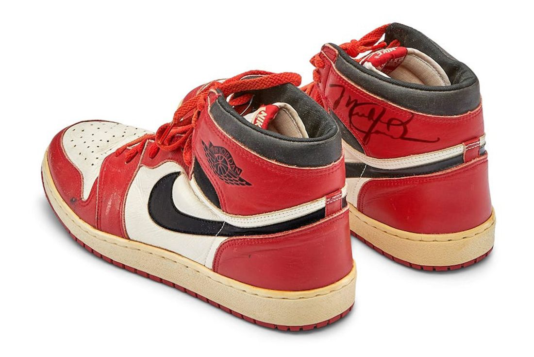 1985 Game Worn Air Jordan 1 Sotheby's Auction