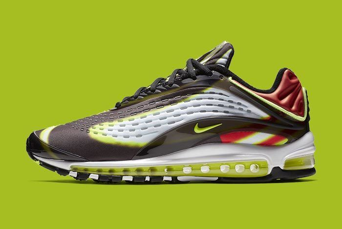 Nike Air Max Deluxe Blackvolt Habanero Red White 2