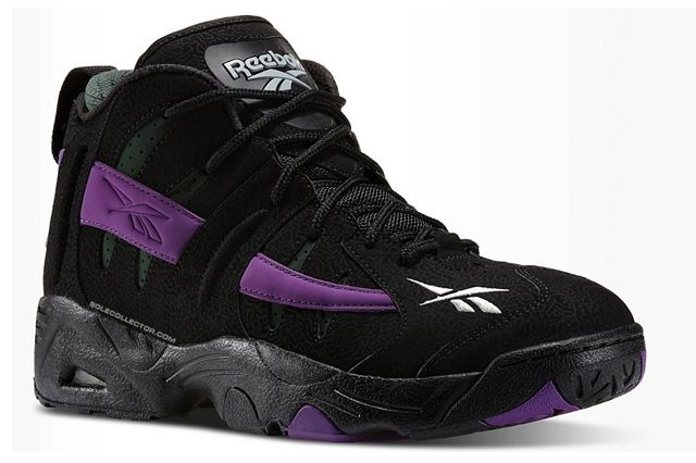 Reebok The Rail Black Purple Olive Angle