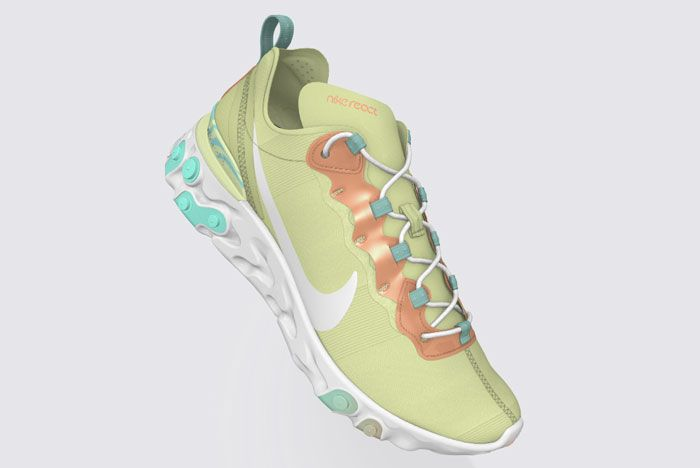 Nike React 55 Psyched By You Yellow Full