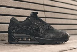 Nike Wmns Air Max 90 Triple Black Croc Thumb