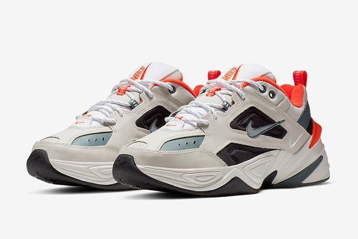 Nike M2 K Tekno Light Bone Turf Orange Pair