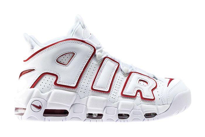 Nike Air More Uptempo 96 Whitevarsity Redwhite 1