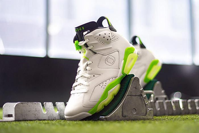 Air Jordan 6 Green University Of Oregon Pe Blocks