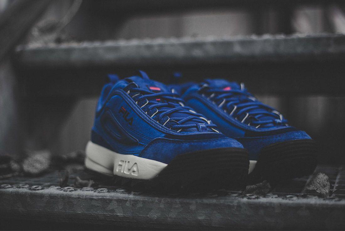 Fila Disruptor V Low Womens Royal Blue Sneaker Freaker 4