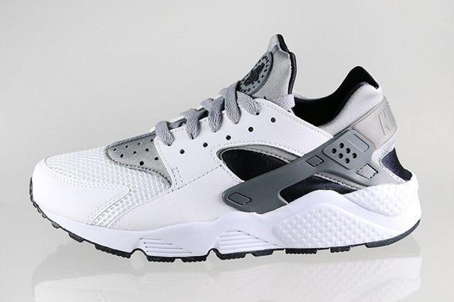 Nike Air Huarache White Black Grey 4