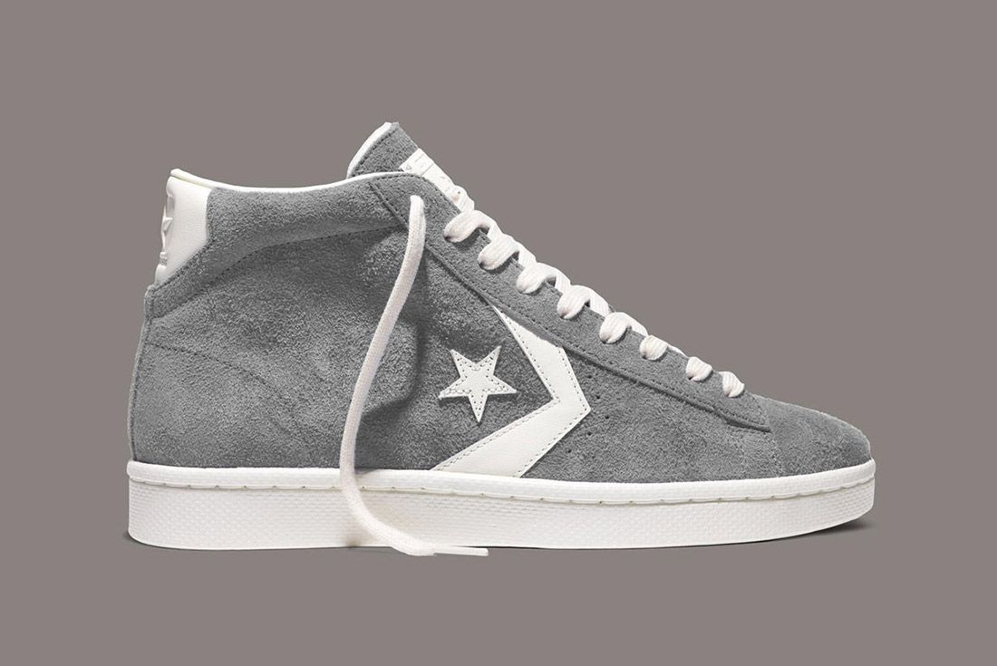 Converse Pro Leather 76 Vintage Suede Grey