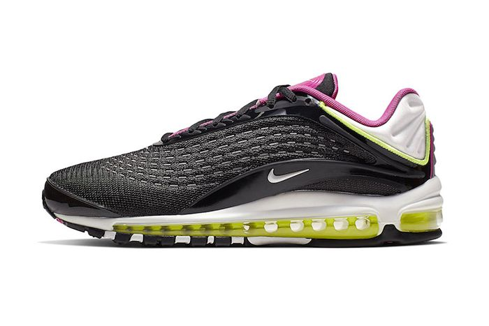 Nike Air Max Deluxe Black Pink Volt White Aj7831 005 Release Date Lateral