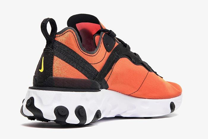 Nike React Element 55 Bq9241 001 Heel Angle Shot 3