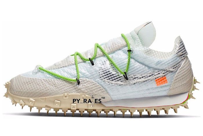 Off White Nike Waffle Racer White Black Electric Green Release Date 1