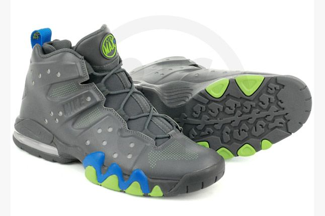 Nike Air Max Barkley Dark Grey Photo Blue Green Pair 1