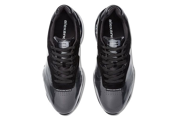 Alexander Wang Stadium Sneaker Pvc Black Top View