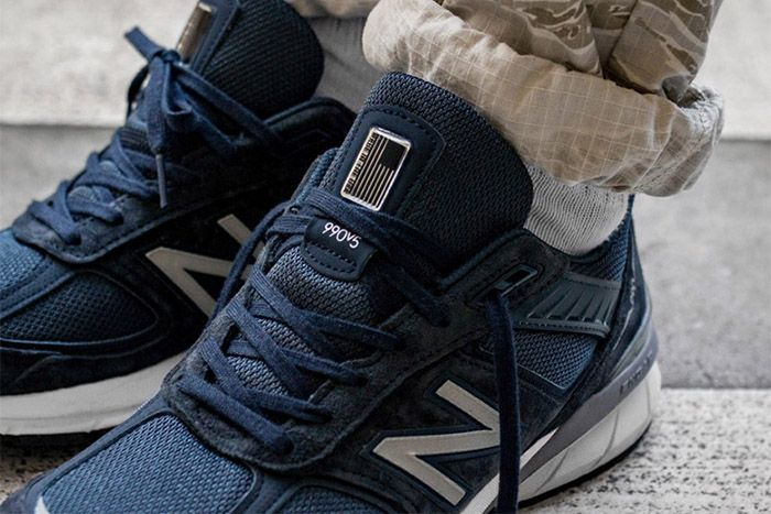 New Balance 990V5 Navy M990Nv5 Release Date Closeup Hero