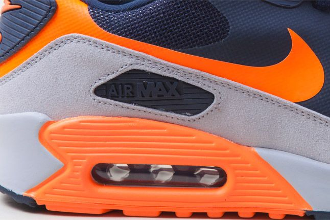 Nike Air Max 90 Hyperfuse Orange Blue Side Details 1