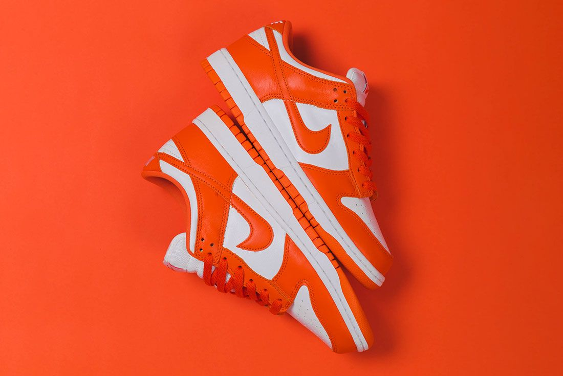 Up There Store Nike Dunk Low Sp White Orange Blaze Stacked Lateral