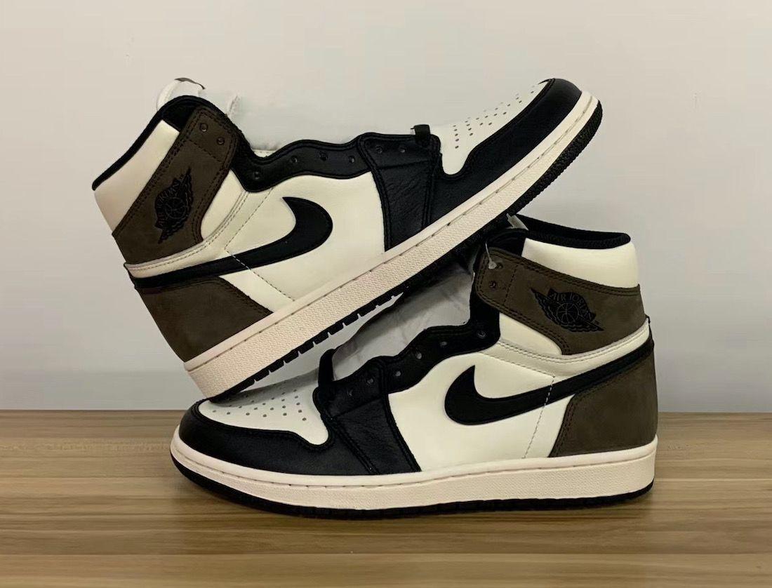 Air Jordan 1 Dark Mocha Stacked
