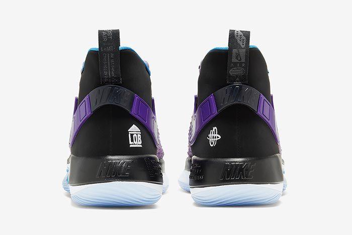 Nike Alphadunk Huarache Grape Heel Shot