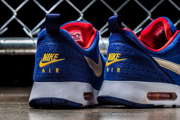 Nike Air Tavas Ltr Blue Gold 3
