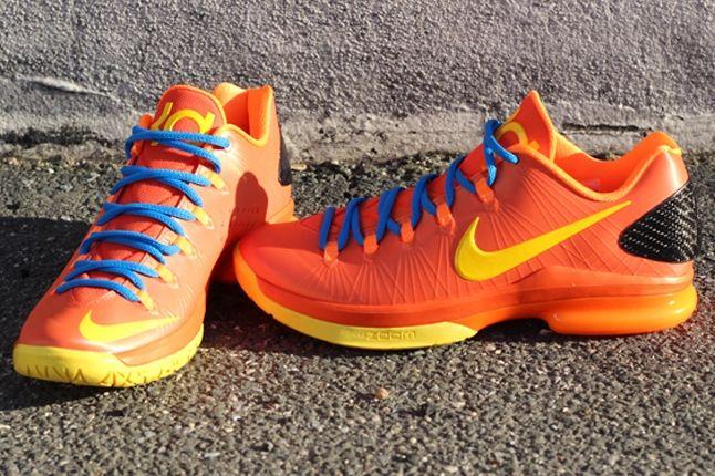 Nike Kd V Team Orange Pair 1