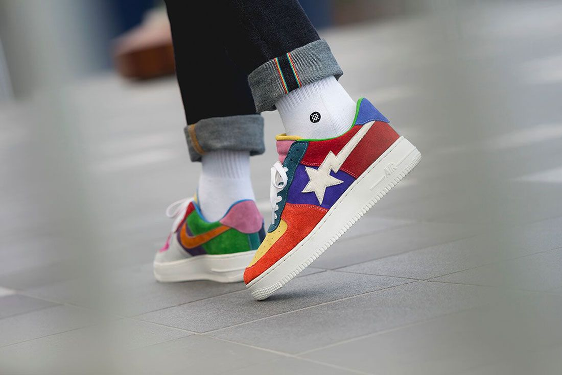 Bespoke Ind Easter What The Swoosh Air Force 1 On Foot3