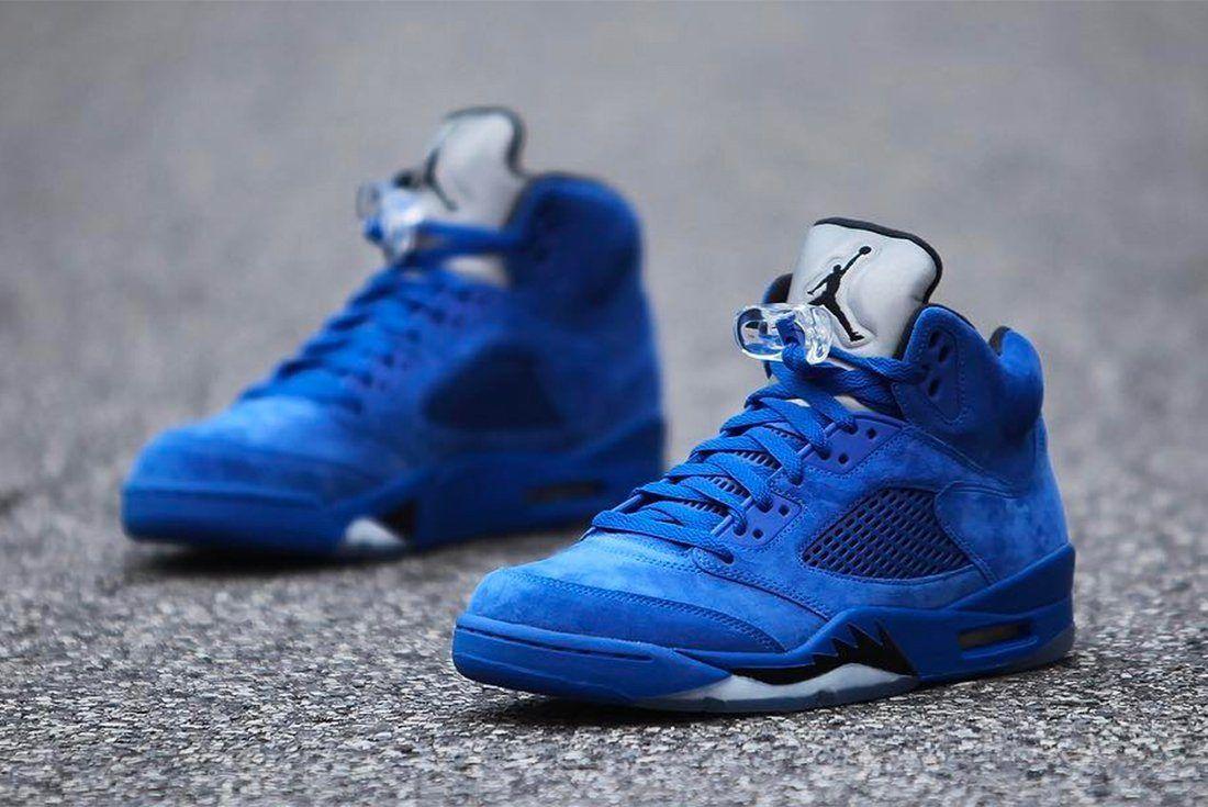 Air Jordan 5 Blue Suede 9
