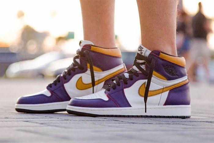 Nike Sb X Air Jordan 1 Lakers Up Close 5