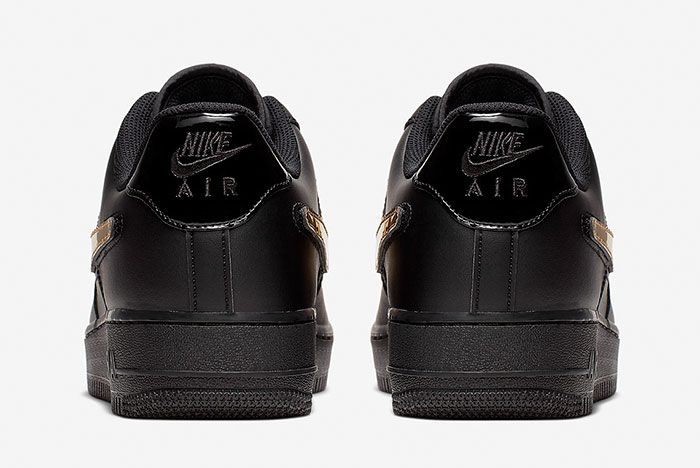 Nike Air Force 1 Blk Gld Ct2252 001 Rear