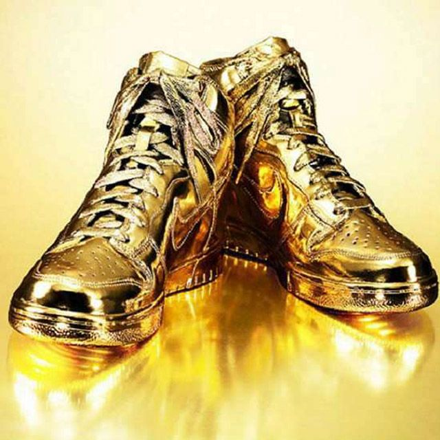 Gold Dipped Shoes