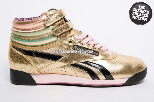 Reebok Freestyle Hi Disco Gold 1