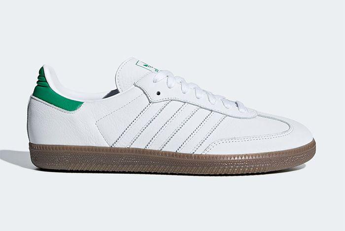 Adidas Samba Og White Green Black 1