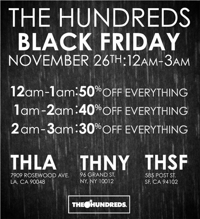 Hundreds Black Friday 1