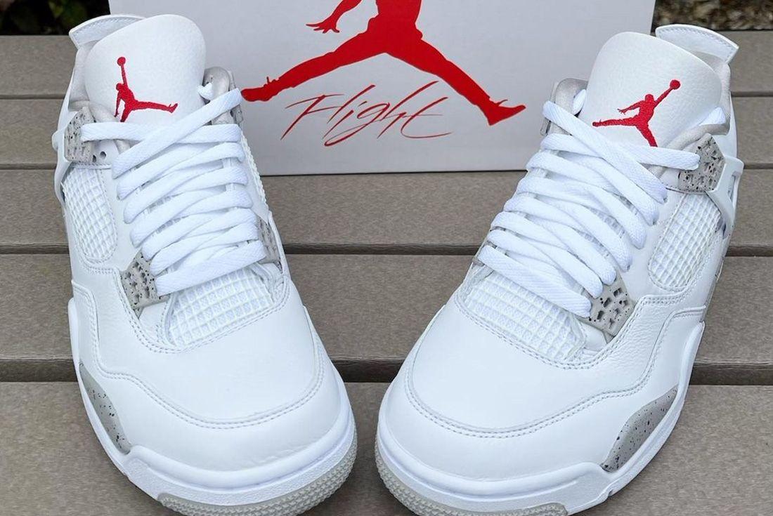 Up-Close Look at the Air Jordan 4 'White Oreo'