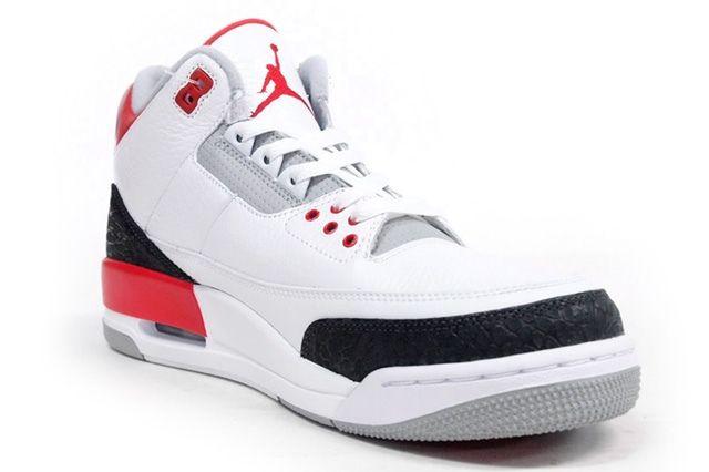 Air Jordan 3 Fire Red Toe Quarter