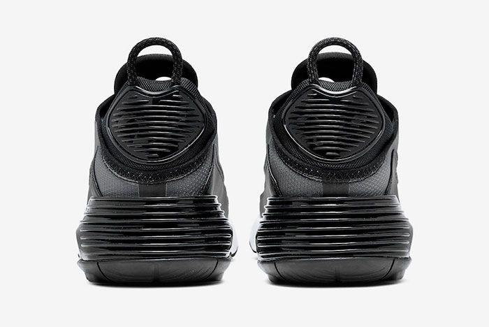 Nike Air Max 2090 Black White Cw7306 001 Heel Shot