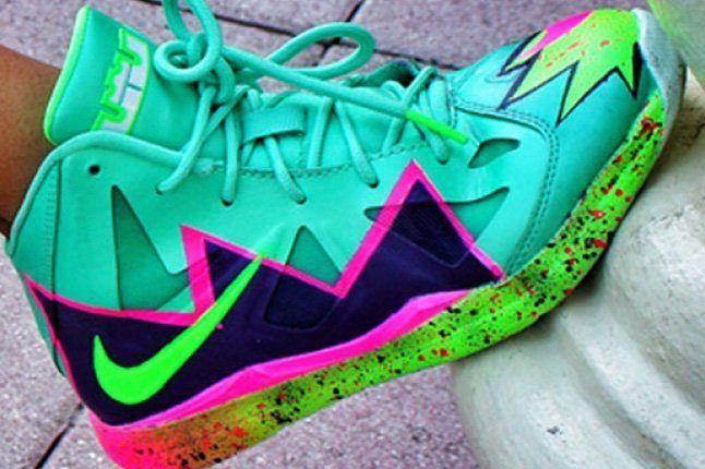 Nike Lebron 10 Gs Custom Pow 5 1