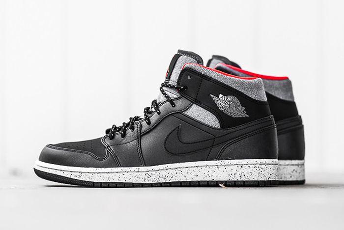 Air Jordan 1 Mid Black Cement7