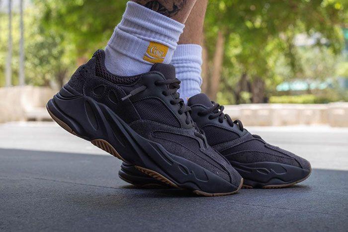 Yeezy Boost 700 Utility Black On Foot 2