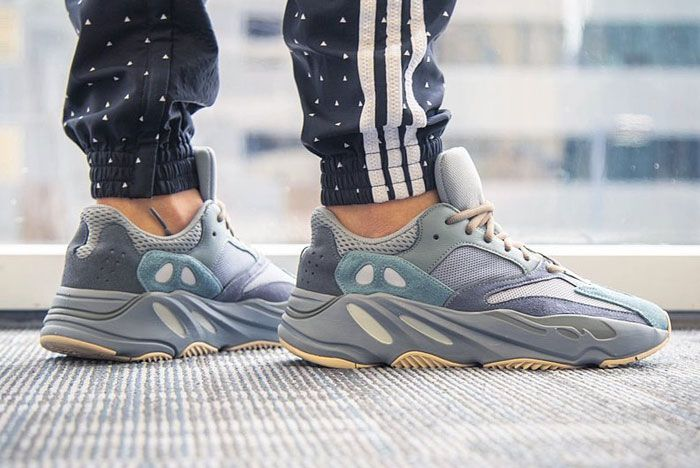 On Foot Adidas Yeezy Boost 700 Blue Teal Right