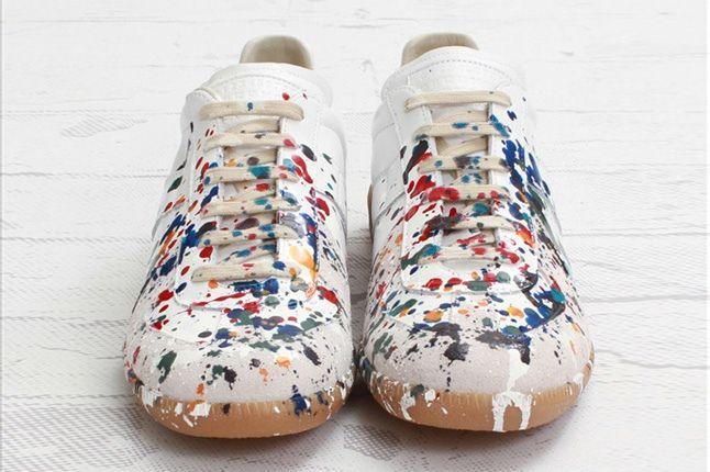 Maison Martin Margiela Lowtop Paint Splatter Toe Profile 1