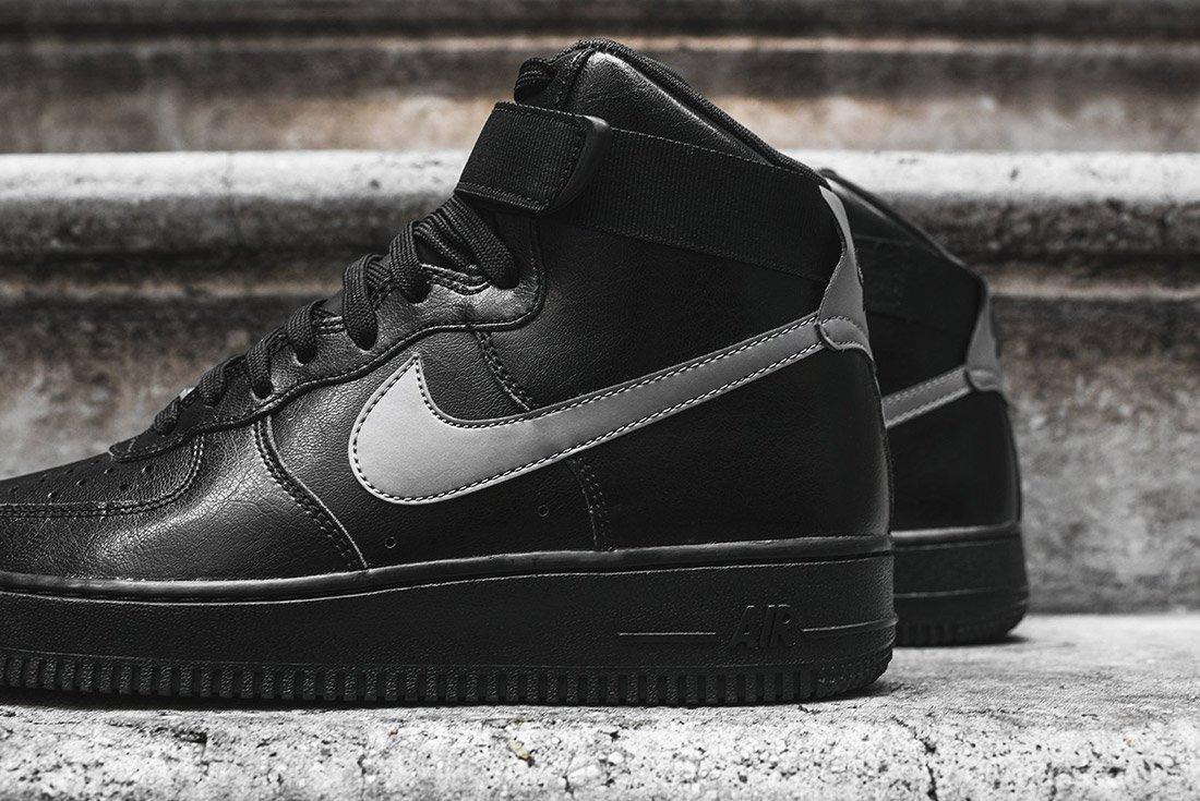 Nike Air Force 1 High Lve Black Silver 1
