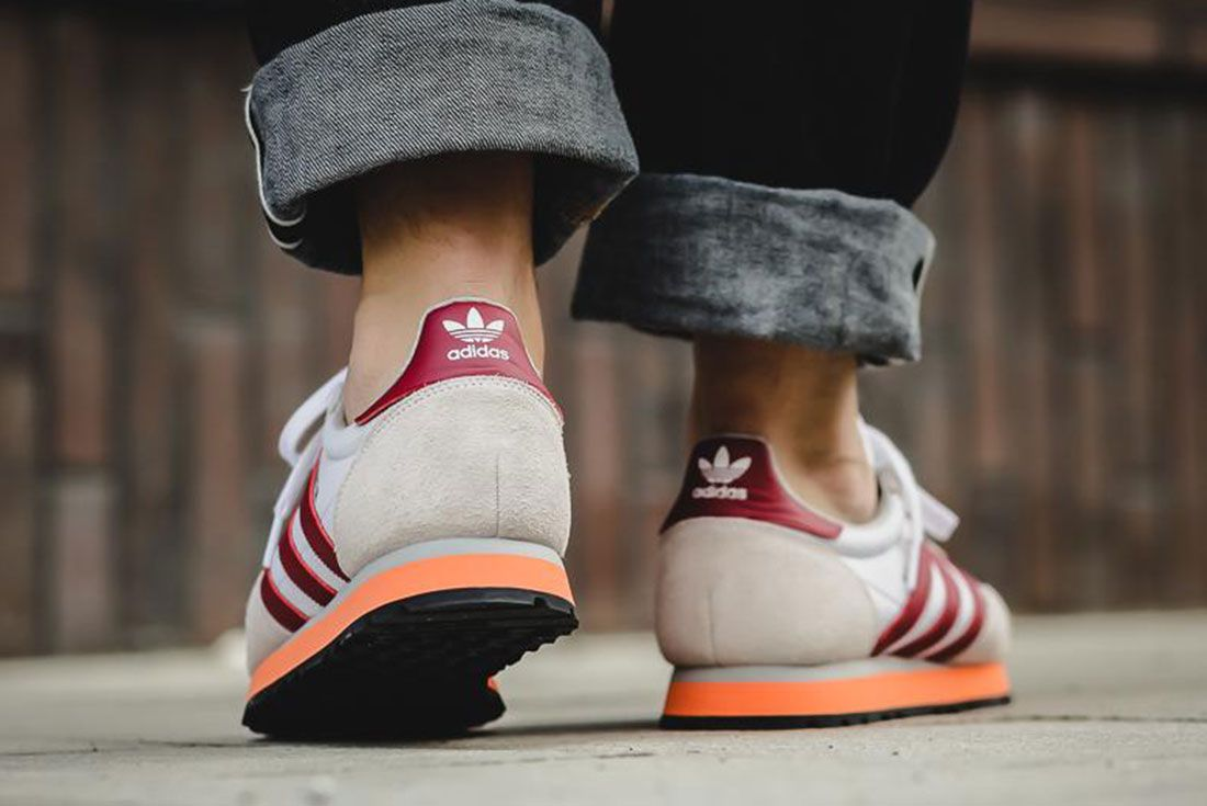 Adidas Haven Collegiate Burgundy Easy Orange 2