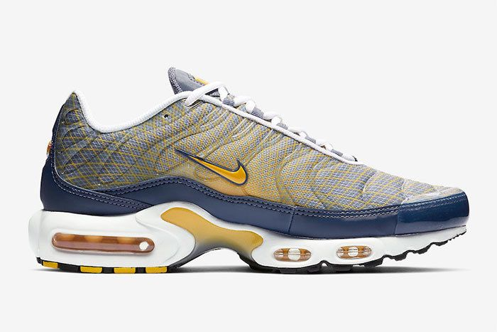 Nike Air Max Plus Grid Blue Yellow Right